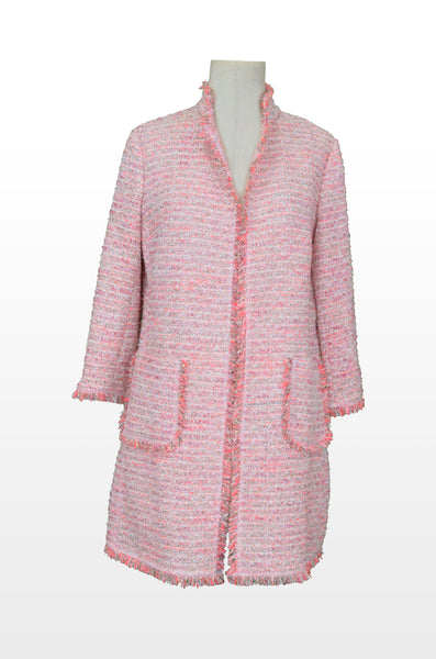 Hand Fringed Boucle coat - Vishal Enterprises Inc