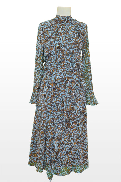 PRINTED COTTON LONG DRESS - Vishal Enterprises Inc