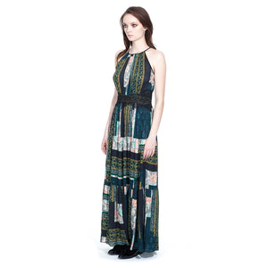 Printed Multi colored Maxi Dress - Vishal Enterprises Inc