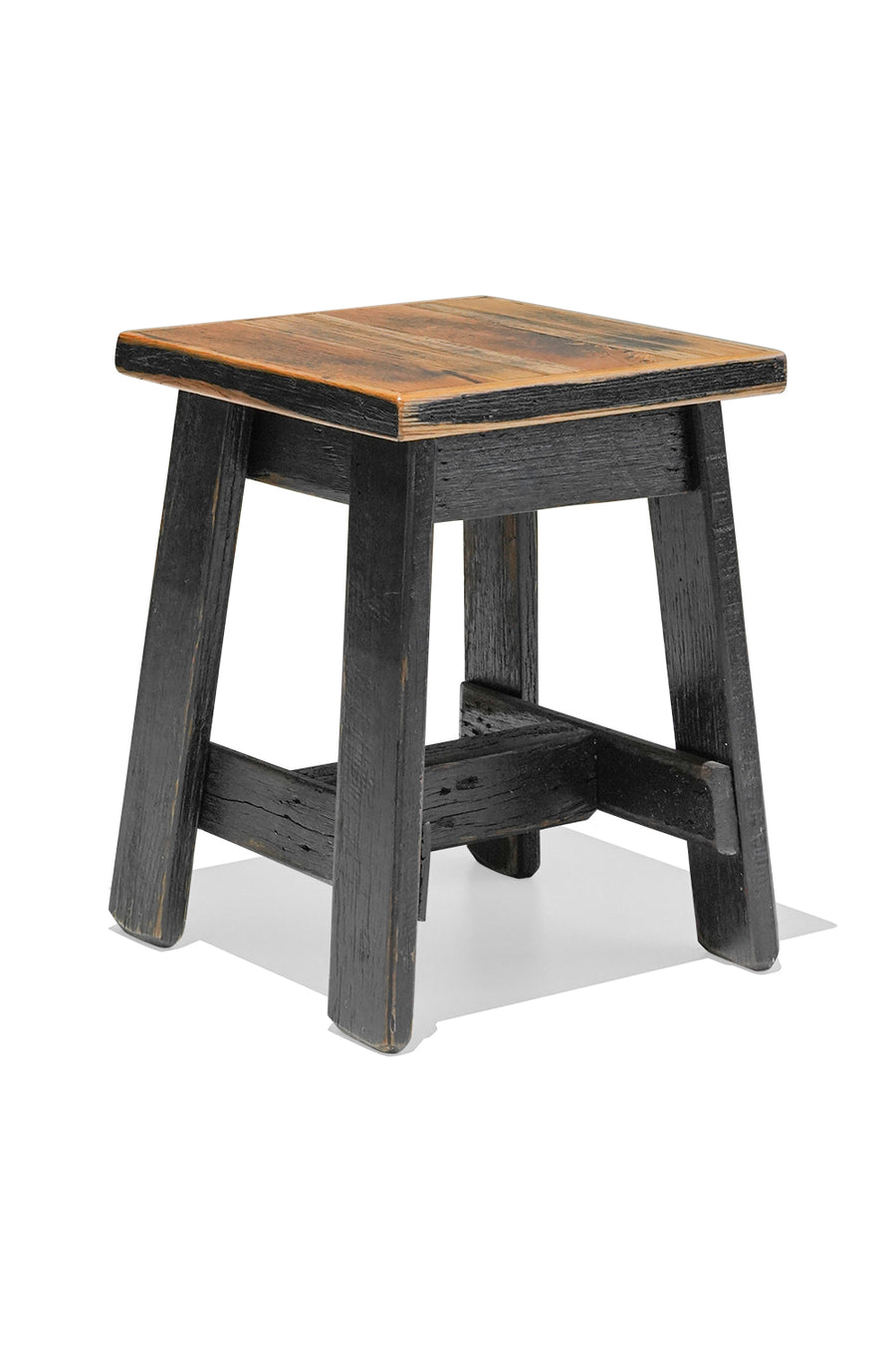 HARDWOOD stool - Black Wash Finish