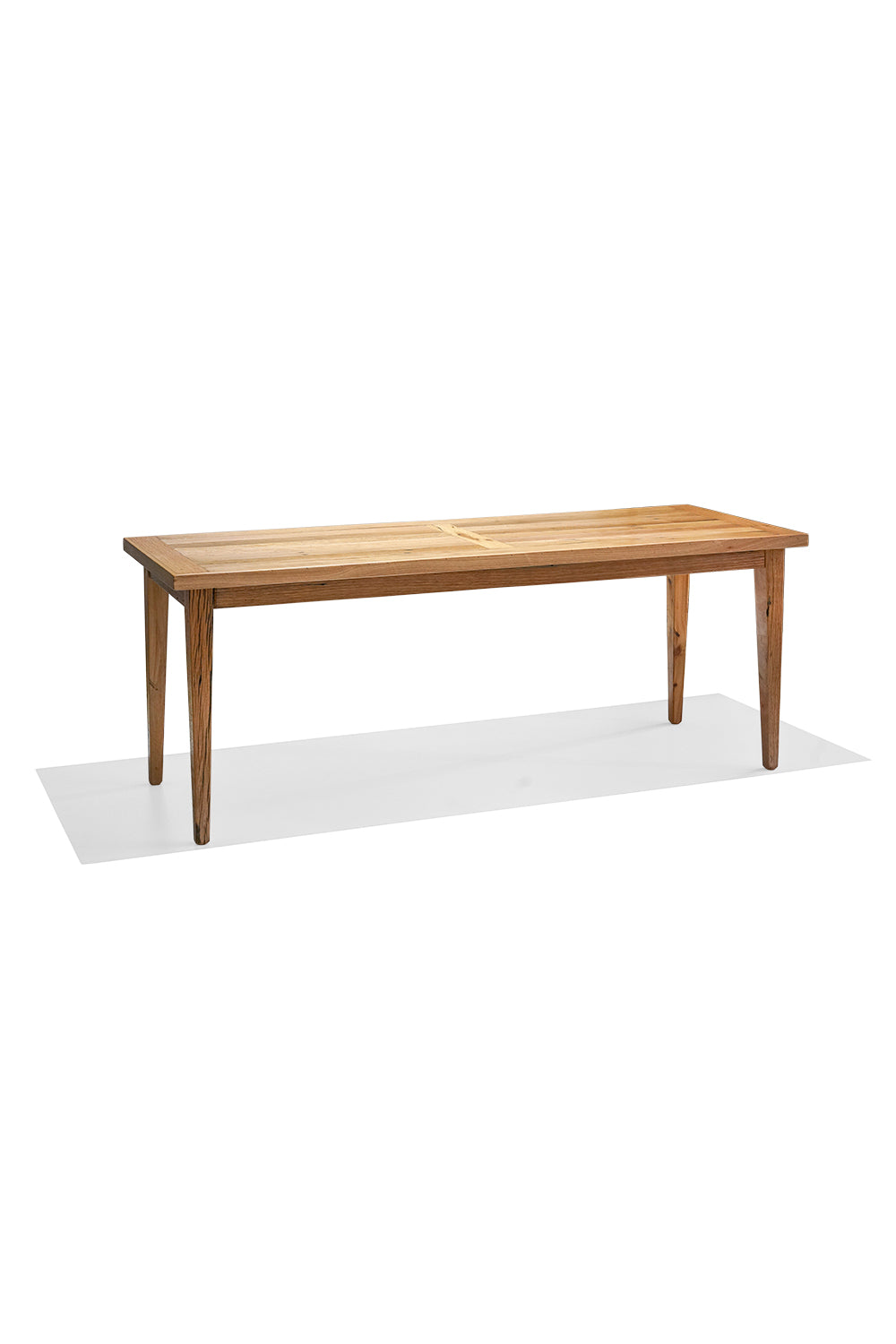 HARDWOOD dining table - blonde finish