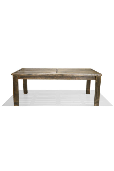 HARDWOOD dining table - honey black wash
