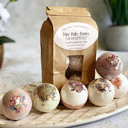 Handmade and Natural Bath Bomb Bombs Away - Natural Bath & Co. Mini Bath Bombs : Pack of 6