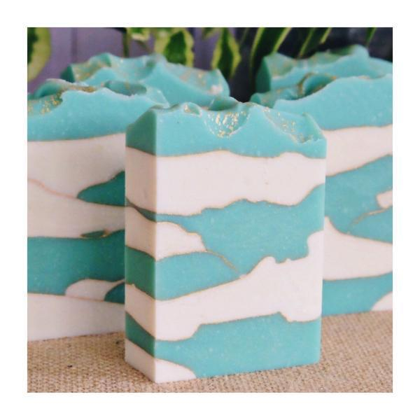 Handmade and Natural Soap Lather & Company Cotton & Clouds Vegan Soap
