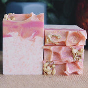 Handmade and Natural Soap Lather & Company Grapefruit Lily Exfoliating Vegan Soap