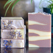 Handmade and Natural Soap Lather & Company Lavender & Oat Vegan Soap