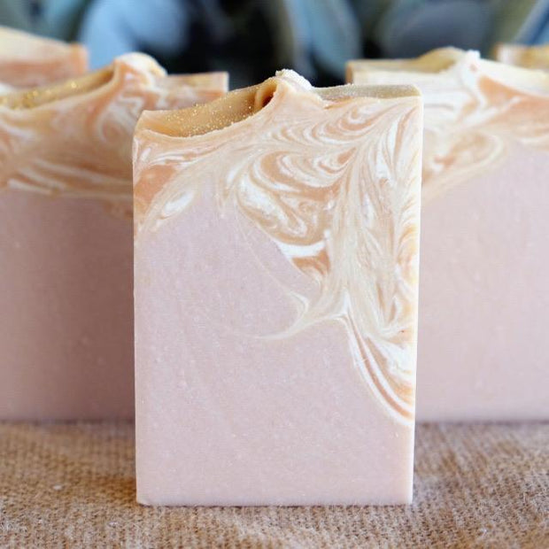Handmade and Natural Soap Lather & Company Peach Prosecco Vegan Soap