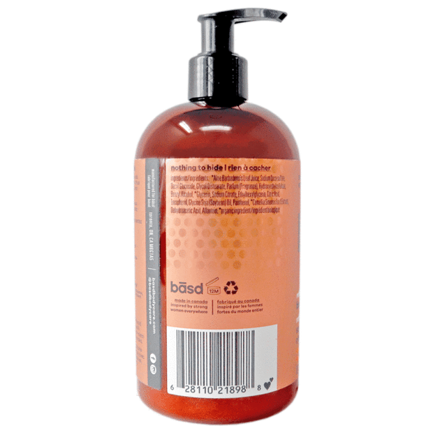 Handmade and Natural Body Lotion Latika Body Essentials Refreshing citrus grapefruit body wash