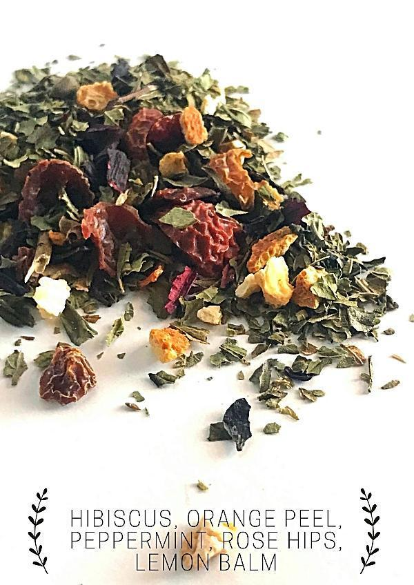 Handmade and Natural Herbal Tea Luna Tea Co. Magenta Loose Tea
