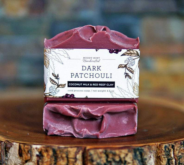 Handmade and Natural Soap Muddy Mint Dark Patchouli Soap