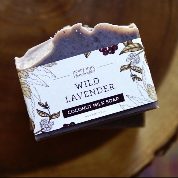 Handmade and Natural Soap Muddy Mint Wild Lavender Exfoiliating Soap