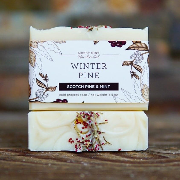 Handmade and Natural Soap Muddy Mint Winter Pine Soap
