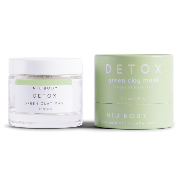 Handmade and Natural Face Masks NIU Body Detox Green Clay Mask