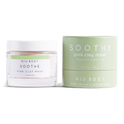 Handmade and Natural Face Masks NIU Body Soothe Pink Clay Mask