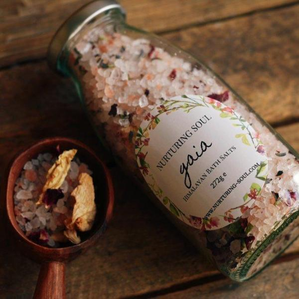 Handmade and Natural Bath Salts Nuturing Soul Gaia Himalayan Bath Salts