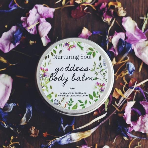 Handmade and Natural Body Balm Nuturing Soul Goddess Body Balm