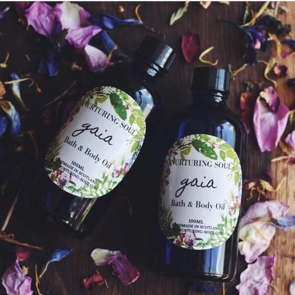 Handmade and Natural Body Oil Nuturing Soul Gaia Bath & Massage Oil