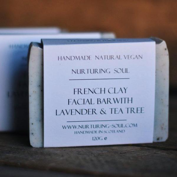Handmade and Natural Soap Nuturing Soul French Clay Facial Soap