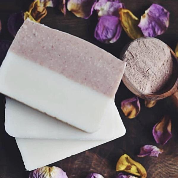Handmade and Natural Soap Nuturing Soul Rose Clay with Ylang Ylang & Clary Sage Soap