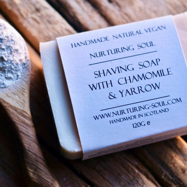 Handmade and Natural Soap Nuturing Soul Shaving Soap with Chamomile & Yarrow