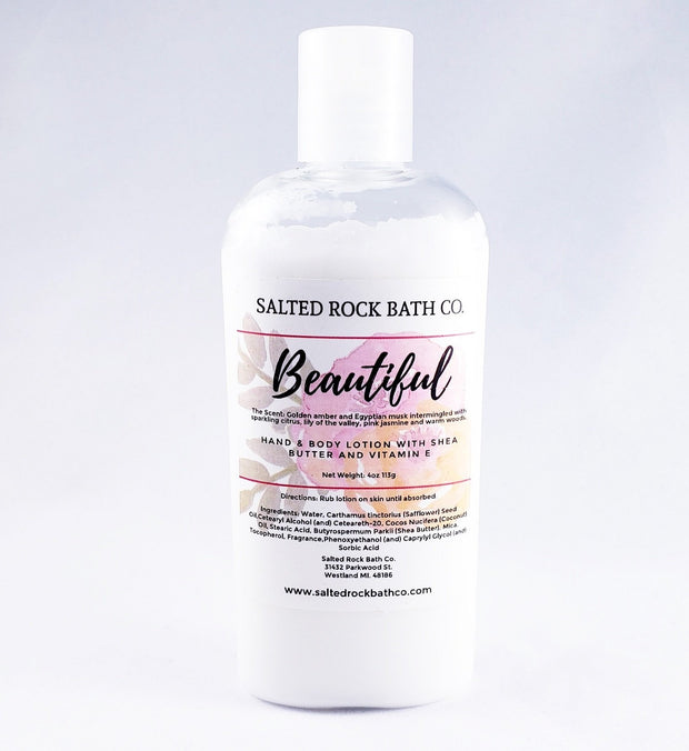 Handmade and Natural Body Lotion Salted Rock Bath Co. Beautiful Body Lotion