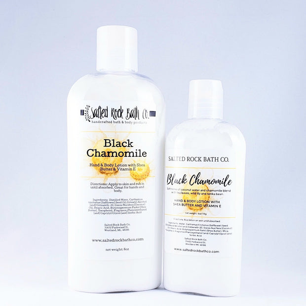 Handmade and Natural Body Lotion Salted Rock Bath Co. Black Chamomile Body Lotion
