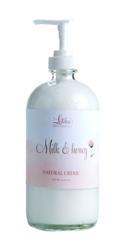 Handmade and Natural Body Lotion Salted Rock Bath Co. Milk & Honey Body Crème