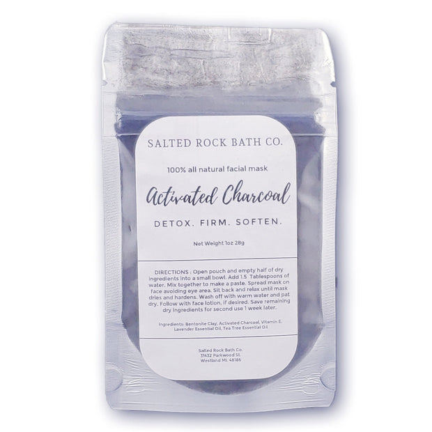 Handmade and Natural Face Masks Salted Rock Bath Co. Activated Charcoal Face Mask