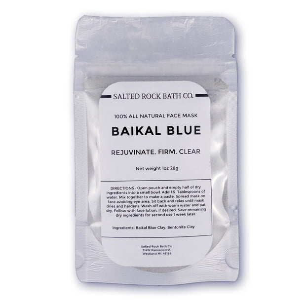 Handmade and Natural Face Masks Salted Rock Bath Co. Baikal Blue Face Mask