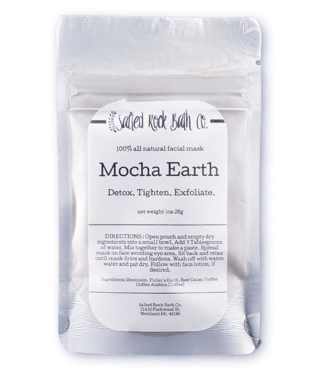 Handmade and Natural Face Masks Salted Rock Bath Co. Mocha Earth Facial Masks