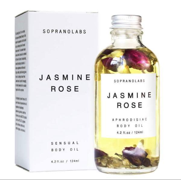 Handmade and Natural Body Oil SopranoLabs Jasmine & Rose Sensual Body Oil