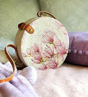Handmade and Natural Bags The Serene Life Rattan Bag - Decoupage Roundie