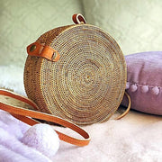 Handmade and Natural Bags The Serene Life Round Rattan Bag (Medium)