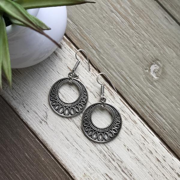 Handmade and Natural Earrings The Serene Life Jhumka Earrings - Moon