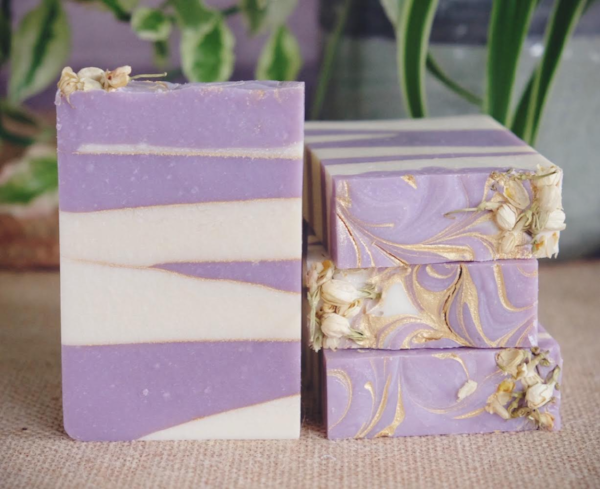 Handmade and Natural Soap The Serene Life Lilac Garden Vegan Soap
