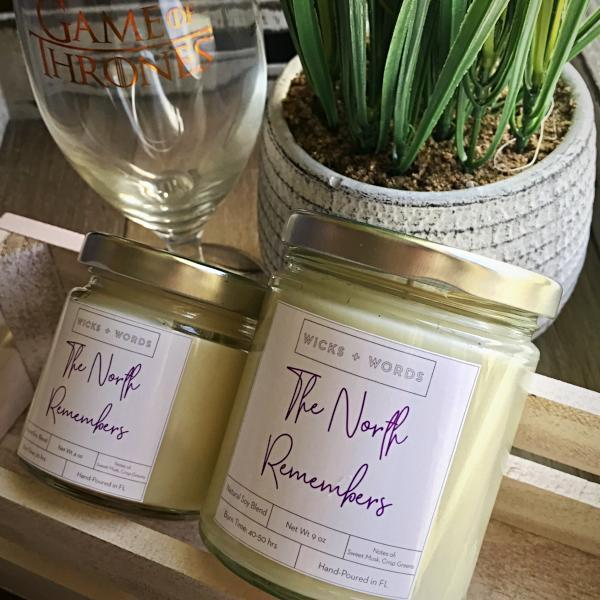 "Handmade and Natural Candles The904Store ""The North Remembers"" - GOT Inspired Natural Soy Candle"