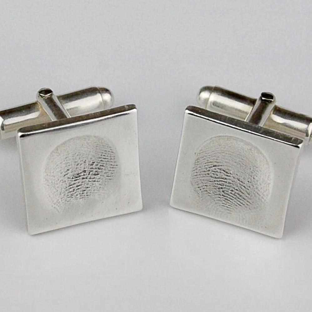 silver fingerprint cufflinks fingerprint jewellery gifts for him