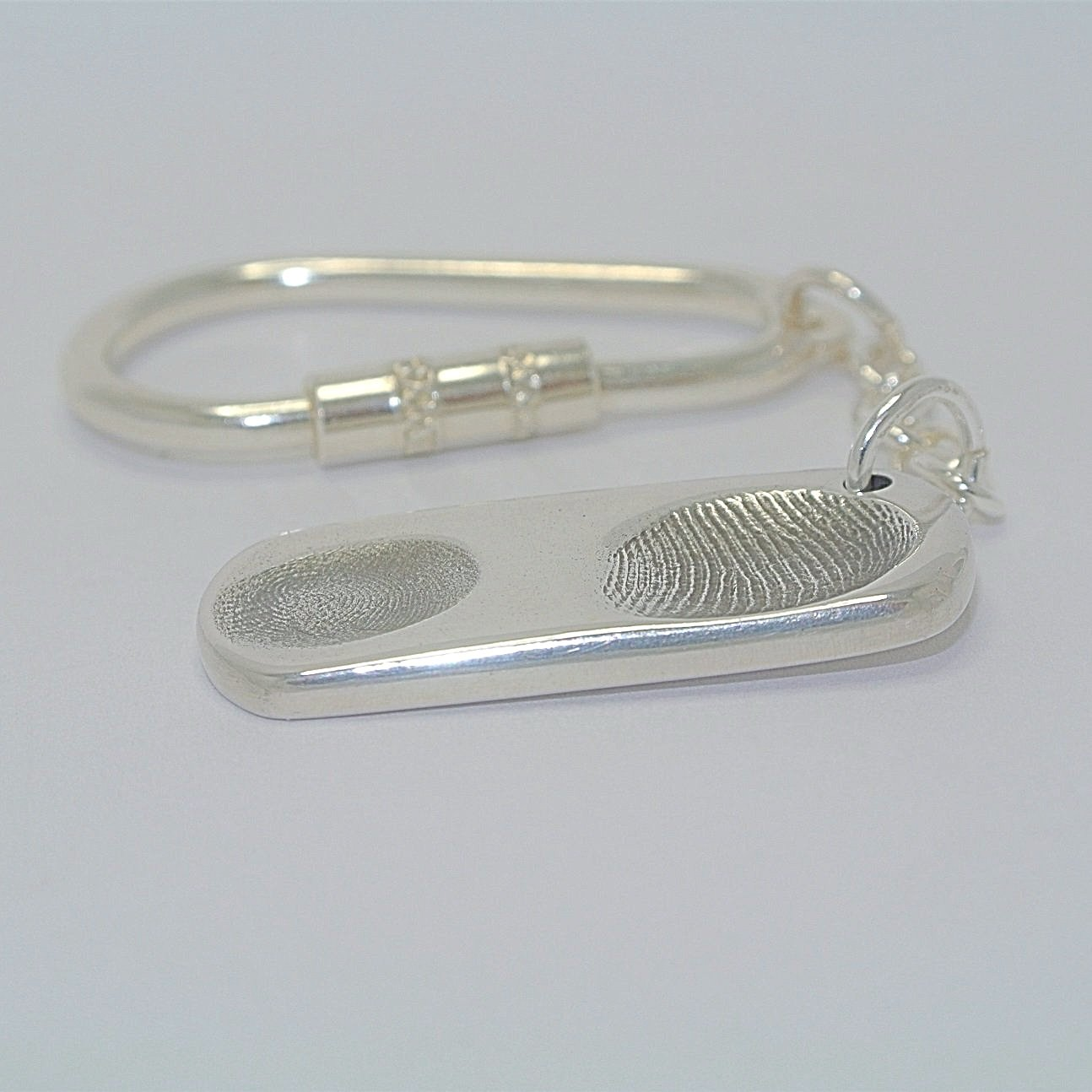 Dogtag Sterling Silver Two Fingerprint Jewellery