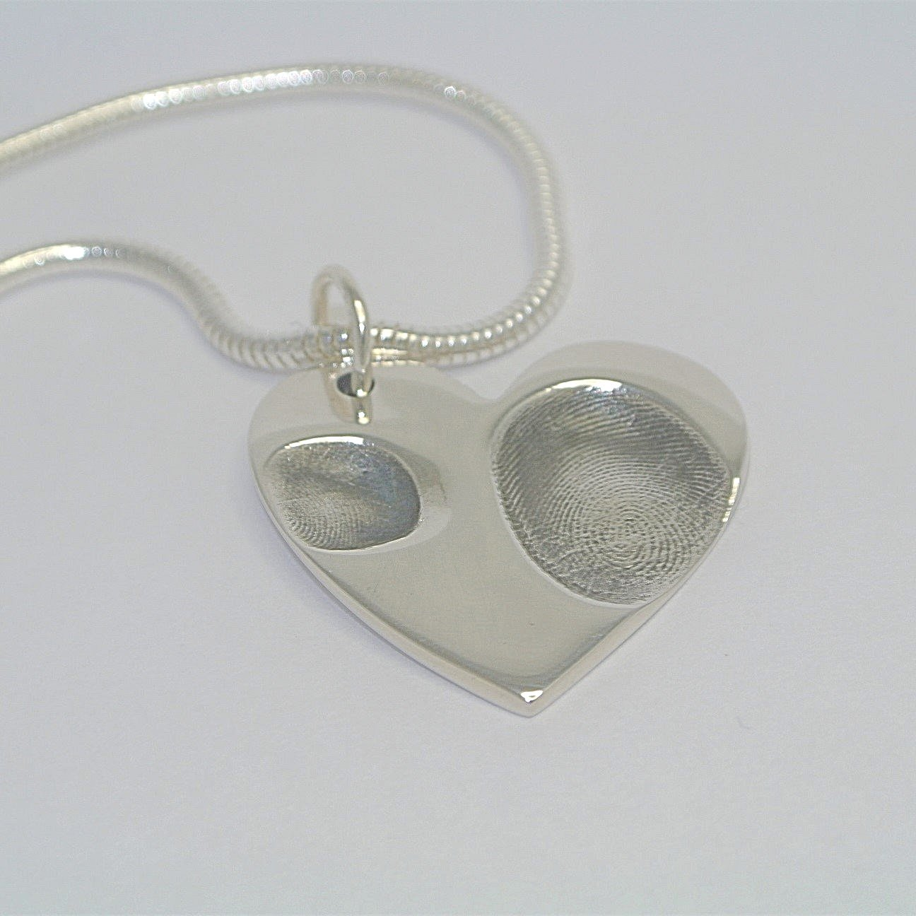 Heart Two Fingerprints Necklace Jewellery