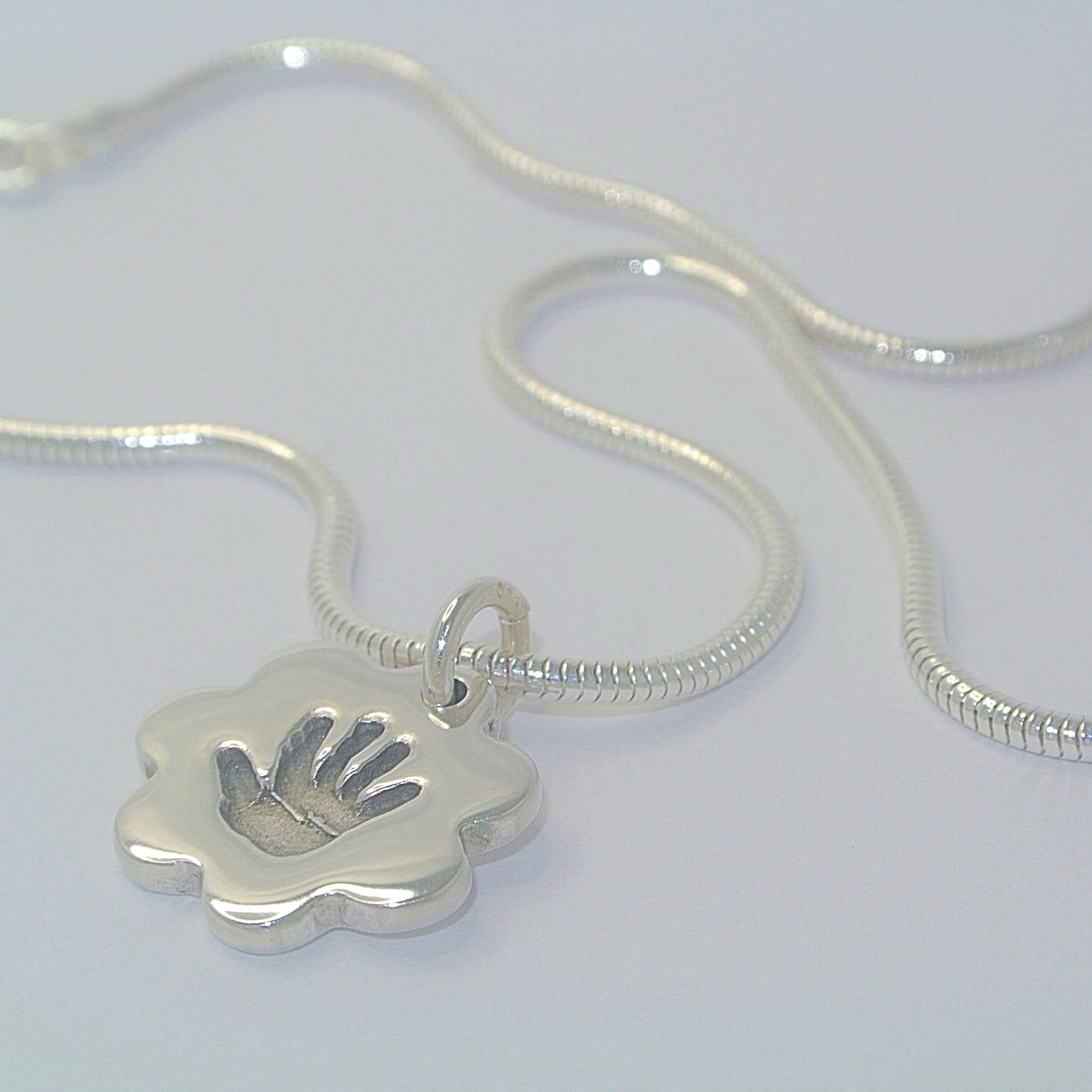 Bracelet Charm Sterling Silver Handprint Keepsake Jewellery