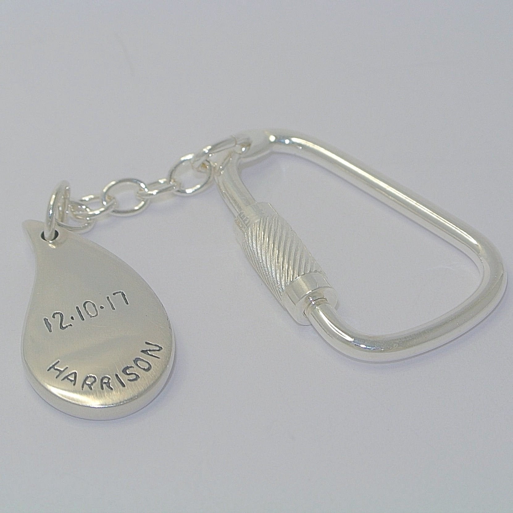 Paisley Shape Sterling Silver Fingerprint Jewellery