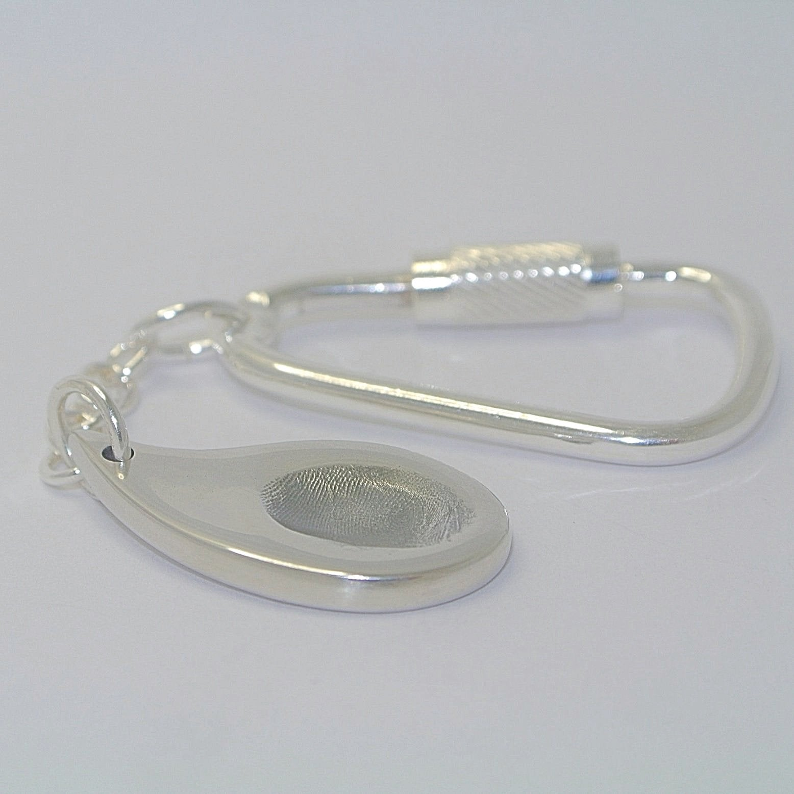 Paisley Fingerprint Sterling Silver Fingerprint Jewellery