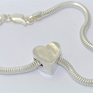 Fingerprint Heart Bead