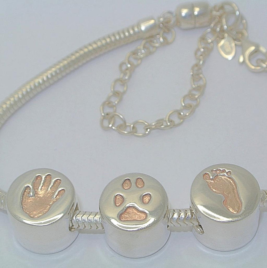 Handprint Jewellery with Rose Gold