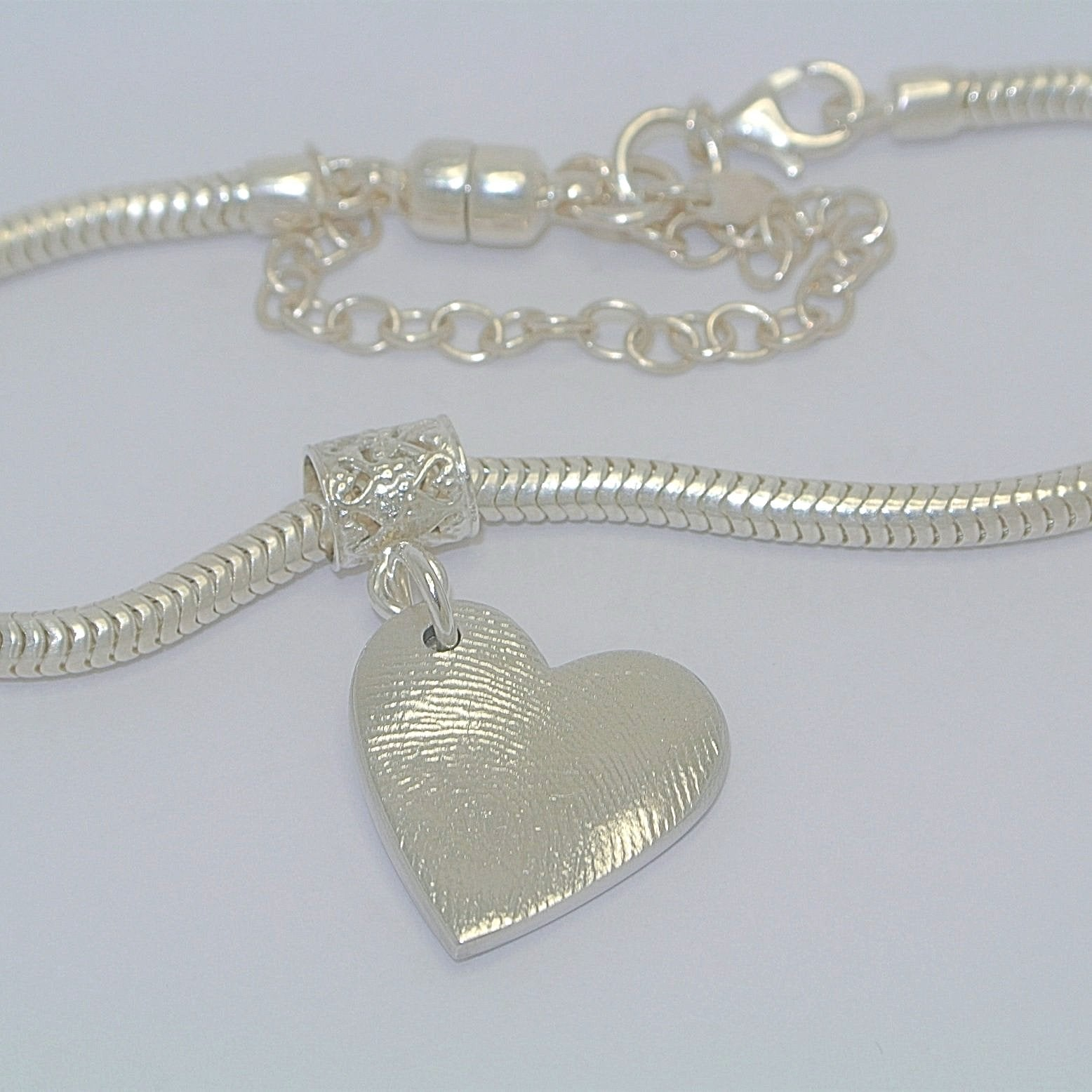 Full Fingerprint Pendant Sterling Silver Fingerprint Jewellery