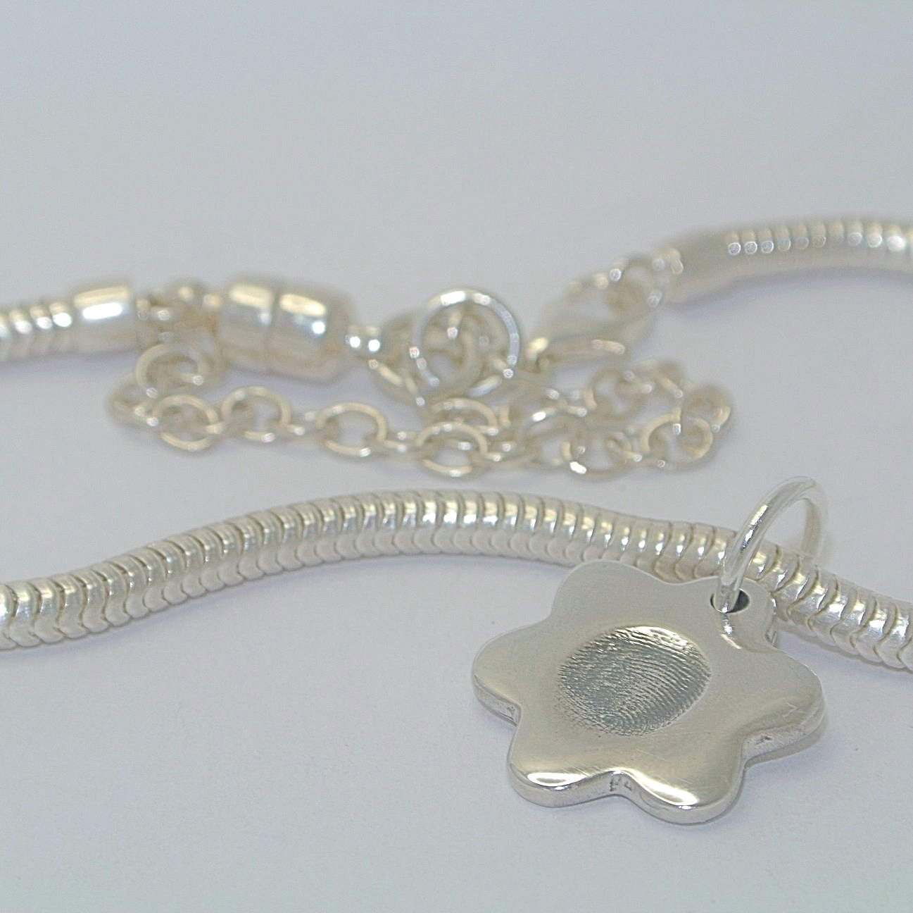 Bracelet Charm Sterling Silver Fingerprint Jewellery
