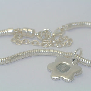 Fingerprint Double-Sided Bracelet Charm