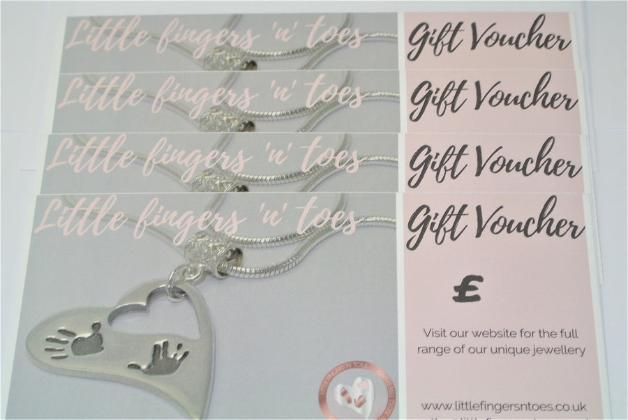 Gift Voucher Sterling Silver Fingerprint Jewellery