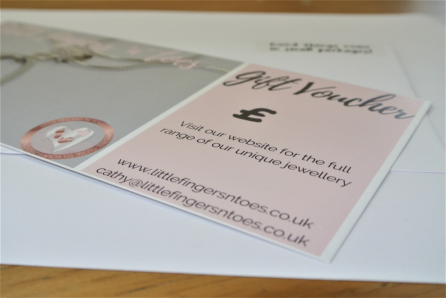 Little Fingers 'n' Toes Jewellery Gift Voucher Sterling Silver Fingerprint Jewellery