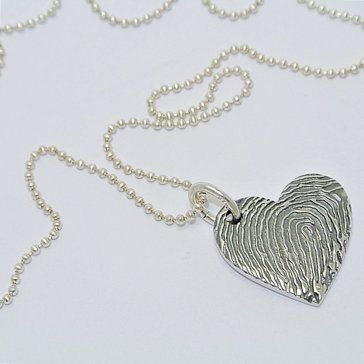 Magnified Fingerprint Pendant. Sterling Silver Fingerprint Jewellery